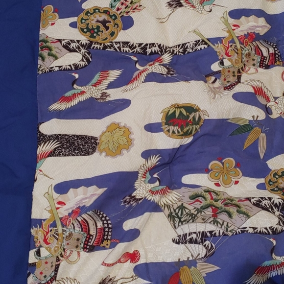 Japanese crane Baby Quit Oriental throw